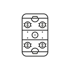 Ice Hockey Rink icon. Game symbol. Flat