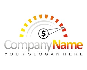 speedometer dollar logo image vector