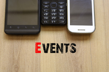 Mobile Telephones Text Concept Events