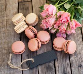Macarons, Rosen und Label