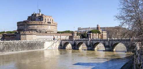 Rome, Italy. Castle of the Sacred Angel (Adrian's mausoleum)