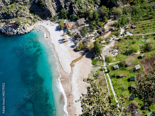 Aerial view of butterfly valley. Turkey.