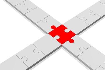 3D puzzle concept