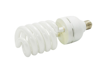 bulb spiral isolated on white background with clipping path