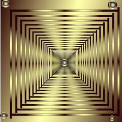 Patterned gold frame