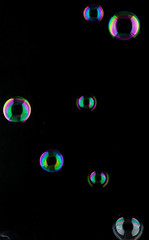 Bubbles colorfully