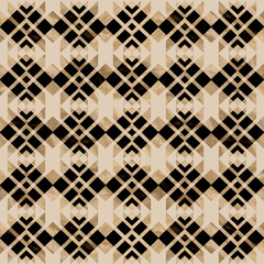 Pattern beige and black