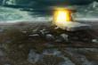 Leinwanddruck Bild - Magical portal in a mysterious land
