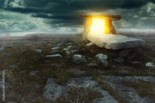 Leinwanddruck Bild Magical portal in a mysterious land