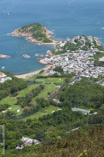 Deurstickers Hong-Kong Stunning landscape of resort village Shek O in Hong Kong. Viewed