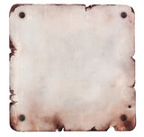Rusty metal plate isolated