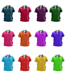 Group of colorfull Little kids polo t shirt