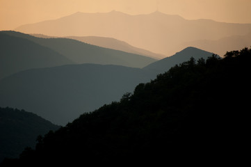 Misty mountains, Montenegro