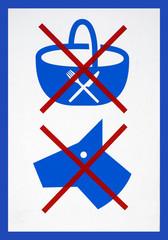 Pique-Nique et chiens interdits - No picnic, no dogs