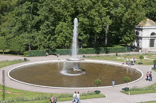 Leinwanddruck Bild The fountains of Peterghoff