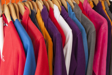 assorted colorful shirts
