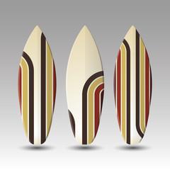 Vector Surfboards Design - Striped Pattern
