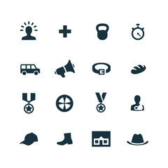 set of army icons
