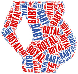 Royal baby. Word cloud illustration.