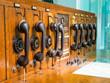 Leinwanddruck Bild - Alte Telekommunikationsanlage