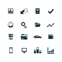 corporate icons set.