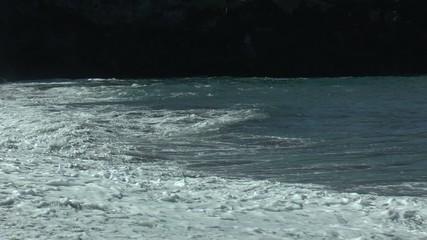vague sur la plage