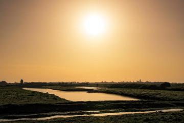 soleil sur les marais