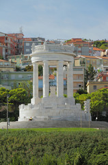 Monument fallen on Square to IV Novembra. Ancona, Italy