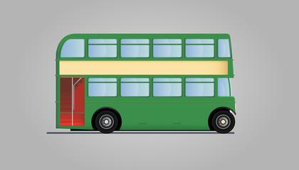 Double decker bus - green