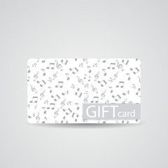 Abstract Beautiful Music Gift Card Design, Vector Illustration.
