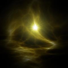 hintergrund - nebelreflektionen im all in gold