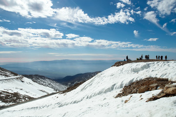 Mount Hermon in the winter .Israel.