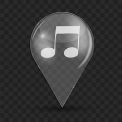 Music Glossy Icon Vector Illustration