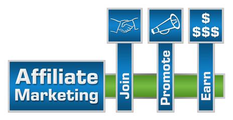 Affiliate Marketing Green Blue Layout