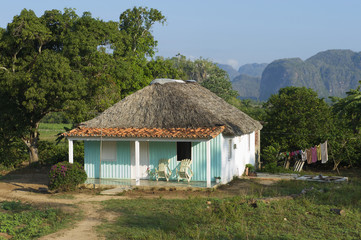 Vinales Cuba Traditional Rural Cuban House