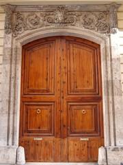 Old wooden door in Valencia