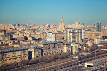 Old buildings in Moscow, Moscow cityscape
