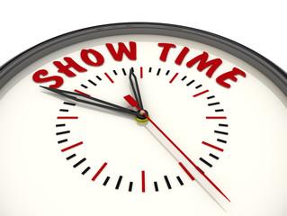 Время для шоу (Show time). Часы с надписью