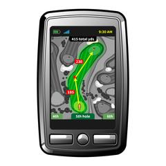 Golf GPS navigator
