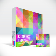 3D Identity box with abstract colorful pattern
