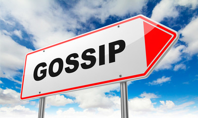 Gossip on Red Road Sign.
