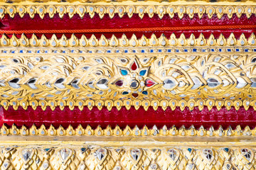 Thai pattern art wall ,texture background