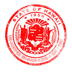 Hawaii Seal Stamp