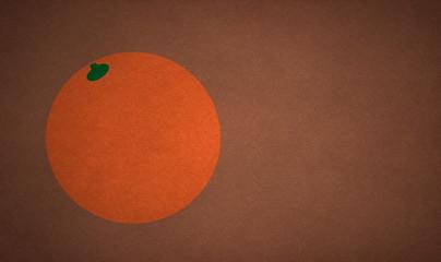 Pastiche of orange on a brown background.