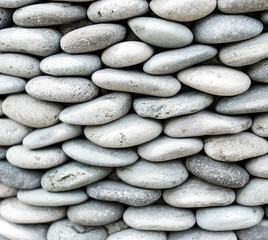 Pebbles stone wall ,texture background