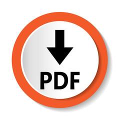 Векторный значок с надписью PDF