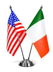 USA and Ireland - Miniature Flags.