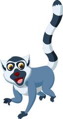 happy lemur cartoon