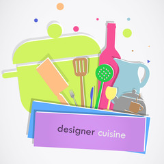 Colorful kitchen items