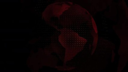 World map red color transparent